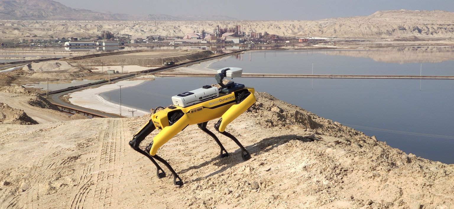 Drone startup Percepto collabs with Boston Dynamics to fit Spot the robo-dog with a 6th sense